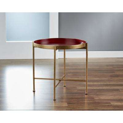 Large Gild Pop Up Red Tray Table