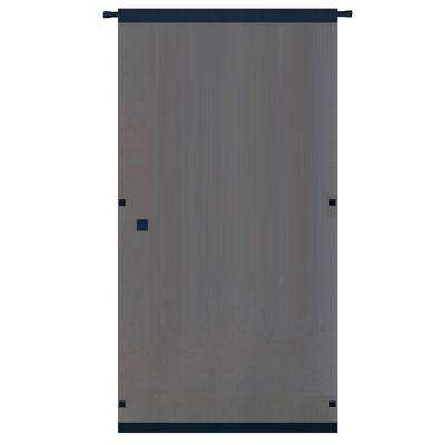 38 in. x 80 in. Black Easy to Install Instant Screen Door with Hardware Included