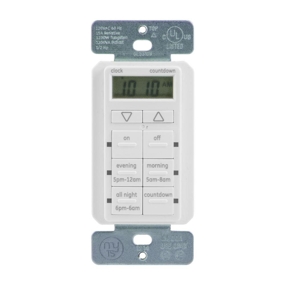 Mytouchsmart Touchsmart 15 Amp 6 Presets And 24 Hourly Settings In Easy To Program Smart Touch Lcds Wall Digital