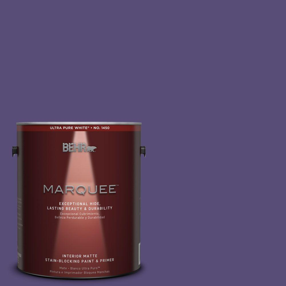 1 gal. #MQ5-42 Perpetual Purple One-Coat Hide Matte Interior Paint