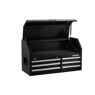 41 in. 6-Drawer Top Chest in Black