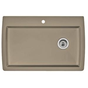 Dual Mount Granite Composite    Hole  Bowl Kitchen Sink Truffle