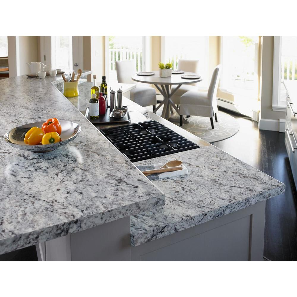 Formica 4 Ft X 8 Ft Laminate Sheet In White Ice Granite With