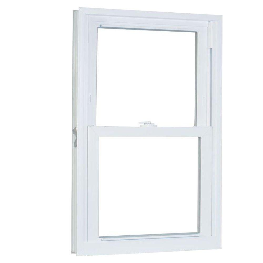 American Craftsman 27 75 In X 53 25 70 Series Pro Double Hung White Vinyl