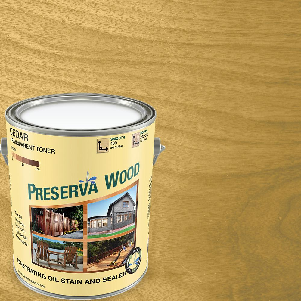 Preserva Wood 1 gal. Oil-Based Cedar Penetrating Exterior Stain and Sealer