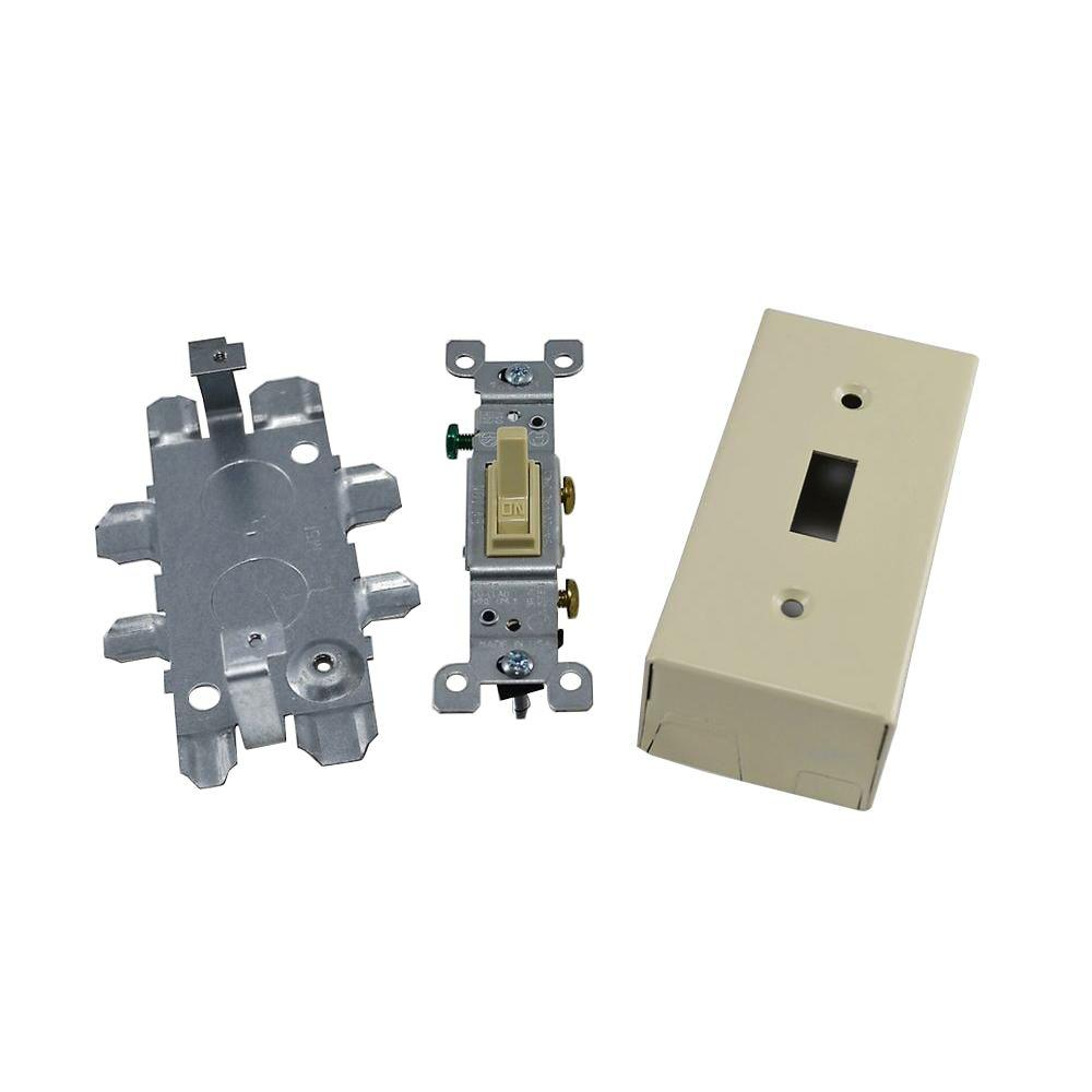 Single Switch Box with Switch - Ivory-SMS57240 - The Home Depot