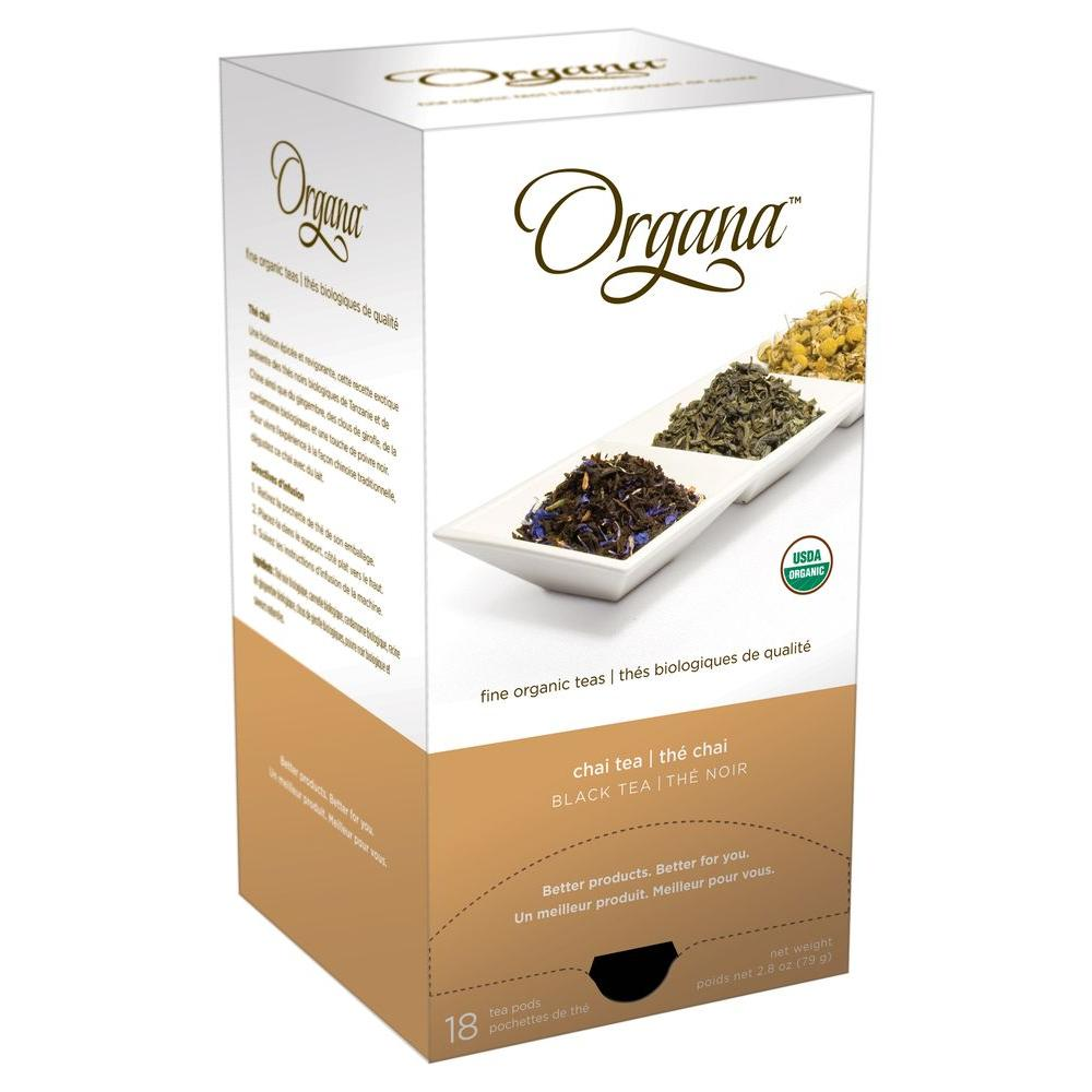 Organa Chai Single Cup Tea Pods, 18-count-DISCONTINUED