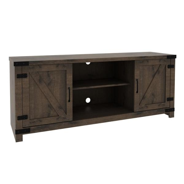 Cache 47 in. Natural Wood Finish Media Console