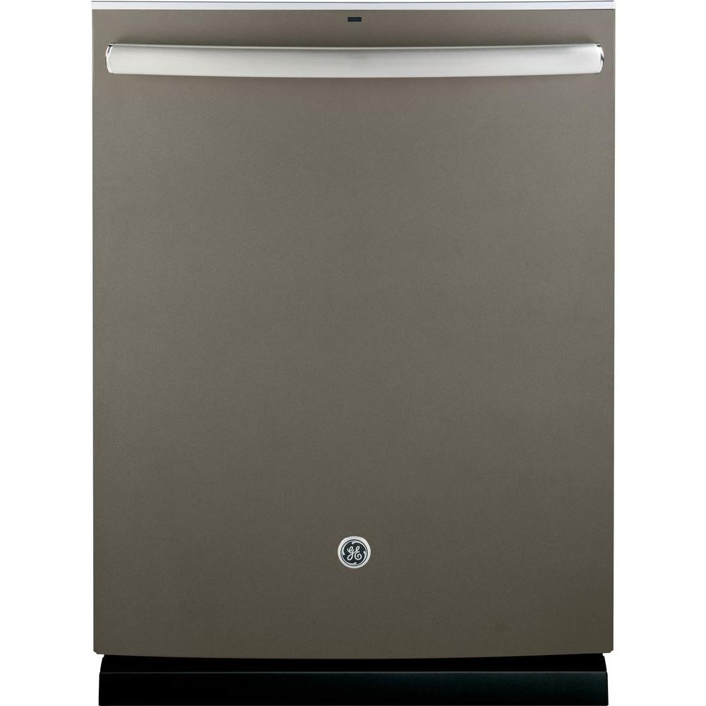 GE Adora Top Control Dishwasher in Slate with Stainless Steel Tub and Steam PreWash