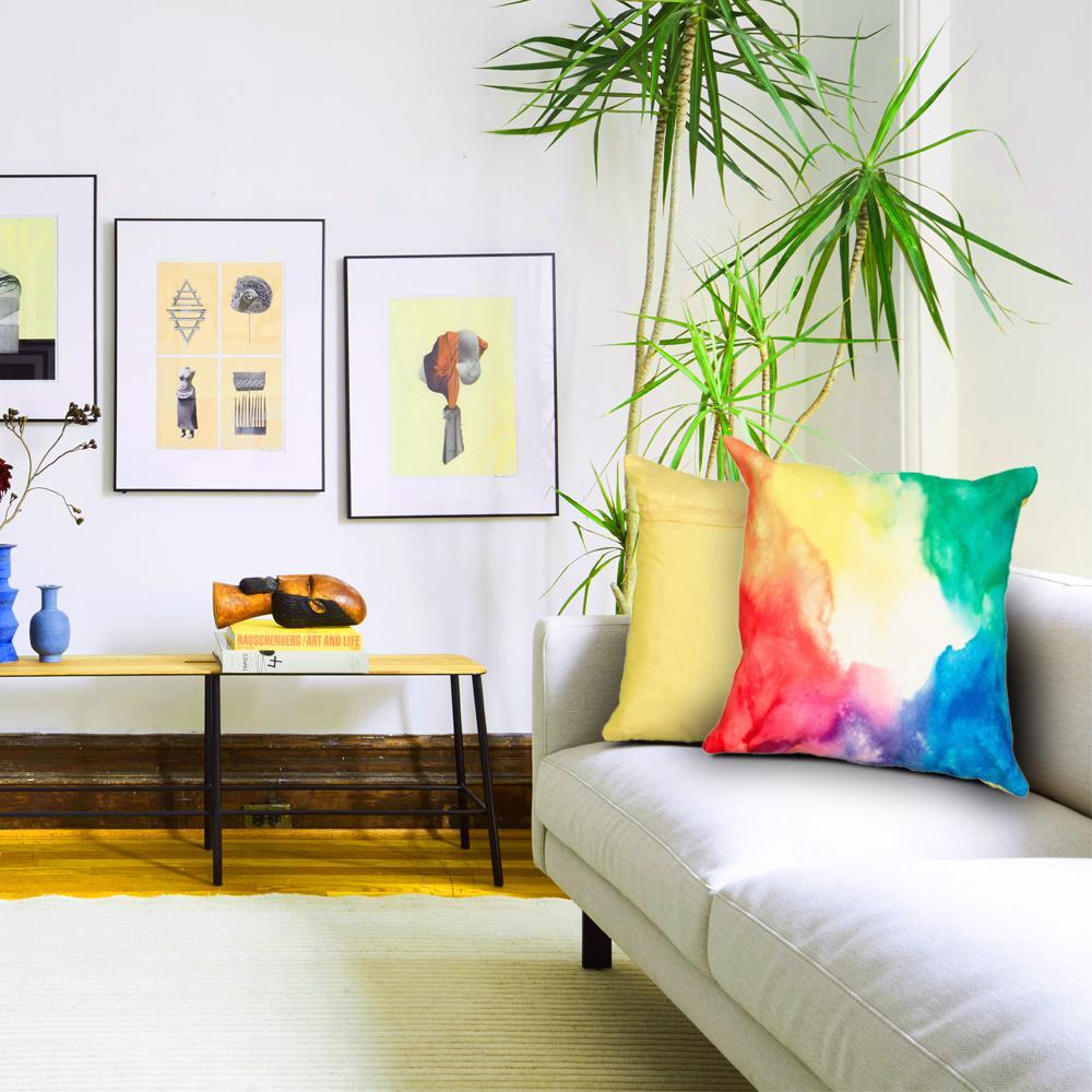 18 in. x 18 in. Multi-Color Decorative Pillow