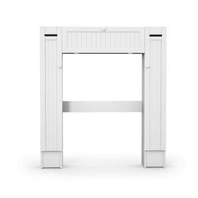 7 in. W Wall Mounted Wooden Storage Cabinet with Paper Holder in White