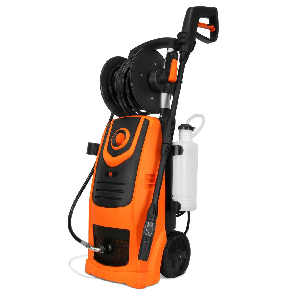 WEN 2100 PSI 1.3 GPM 13.5 Amp Electric Pressure Washer with Variable Flow Power and Hose Reel