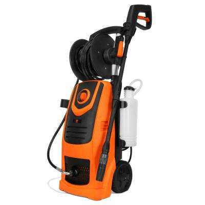 2100 PSI 1 3 GPM 13 5 Amp Electric Pressure Washer with Variable Flow Power  and Hose Reel