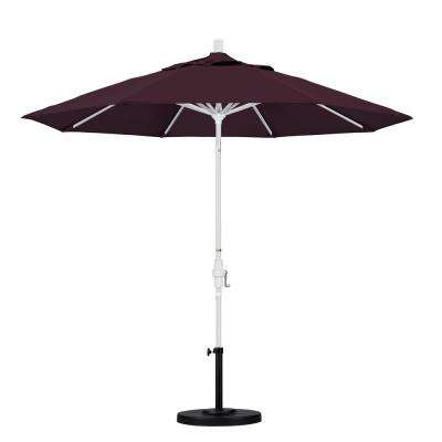 9 ft. Aluminum Collar Tilt Patio Umbrella in Purple Pacifica