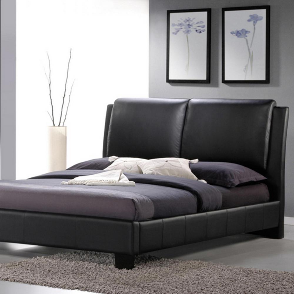 Baxton Studio Sabrina Black Queen Upholstered Bed-28862-4043-HD ...