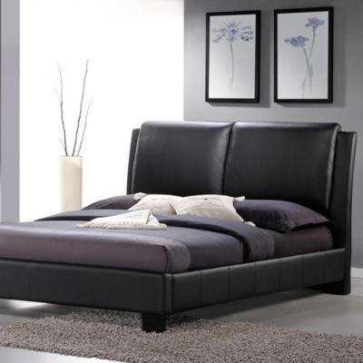 Sabrina Black Queen Upholstered Bed