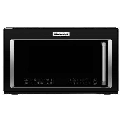 30 in. W 1.9 cu. ft. Over the Range Convection Microwave in Black with Sensor Cooking Technology