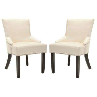 Lotus Flat Cream/Espresso Side Chair (Set of 2)