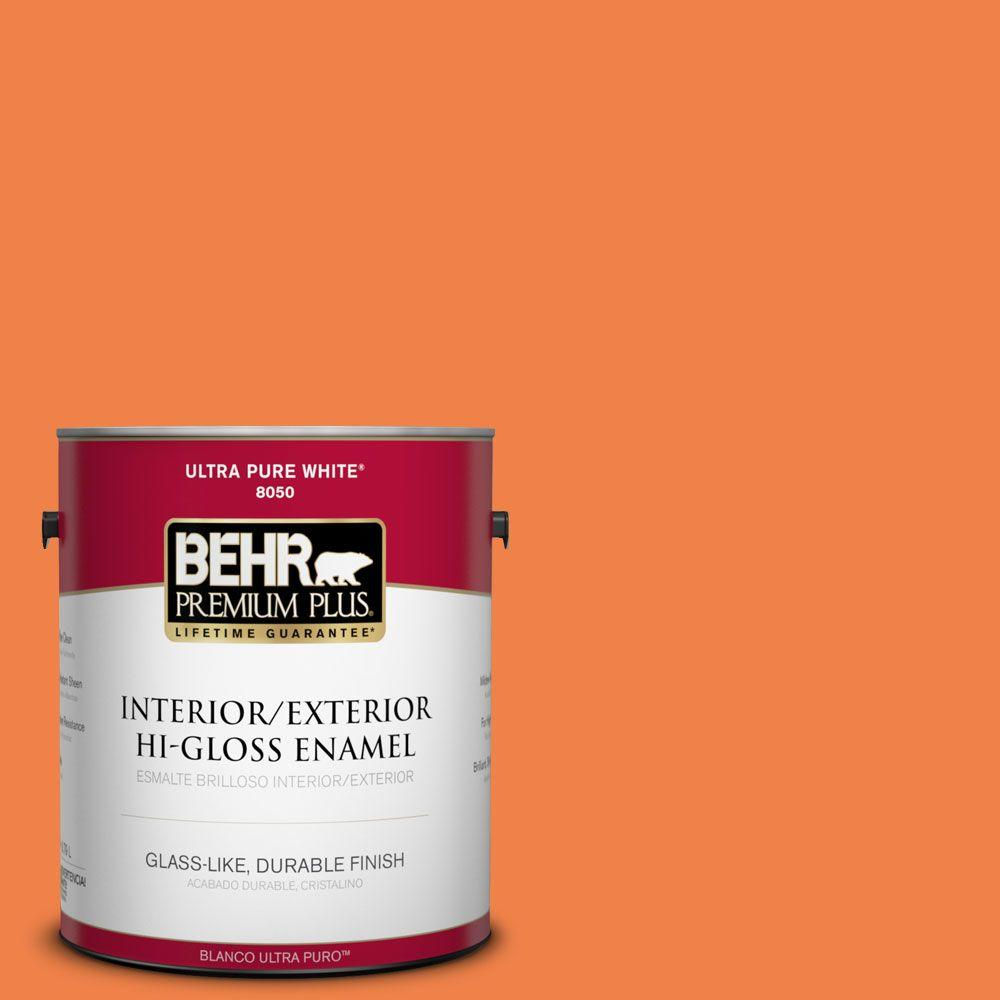 1-gal. #240B-6 Orange Zest Hi-Gloss Enamel Interior/Exterior Paint
