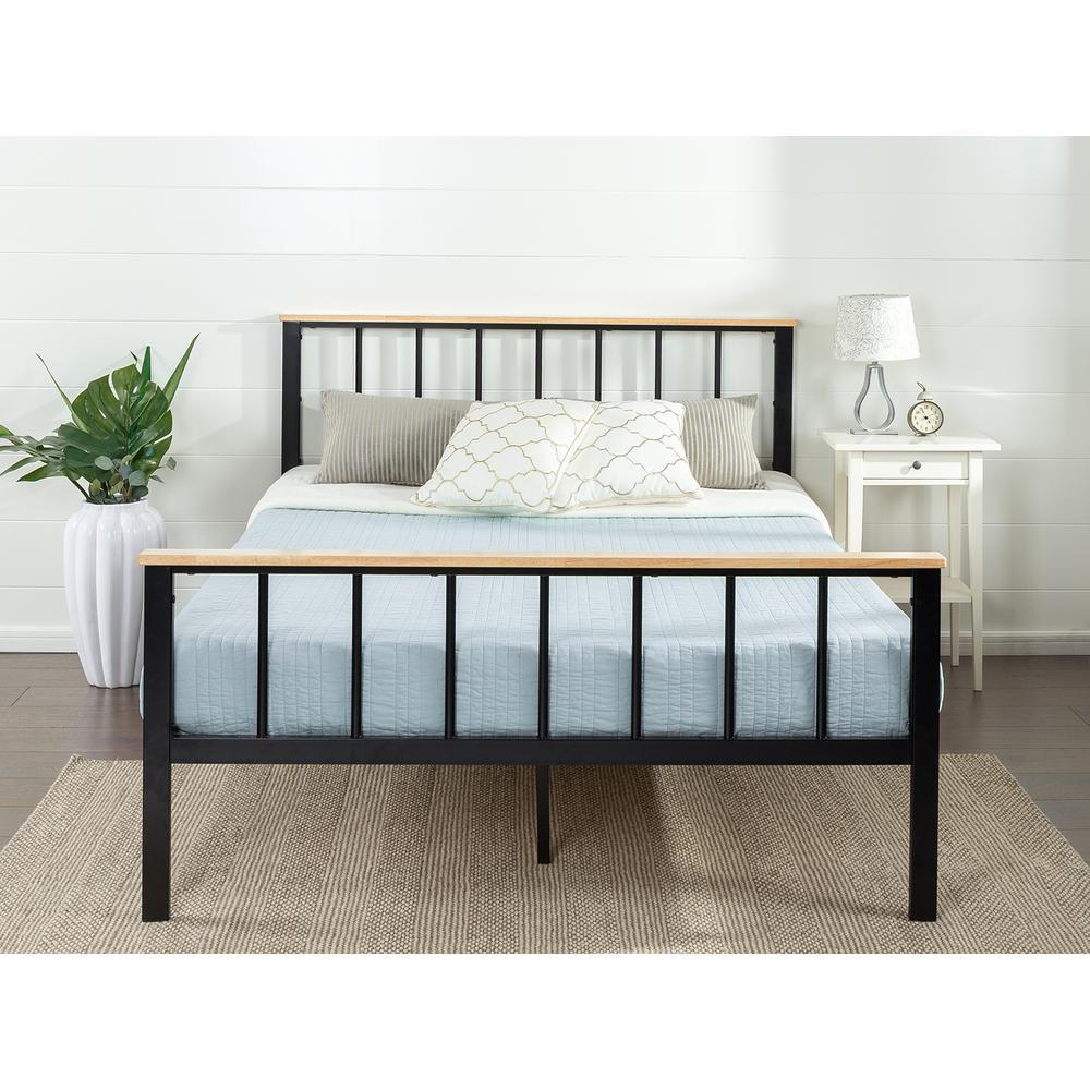 Zinus Brianne Metal and Wood Platform Bed Frame, King HD-HBPBD-14K