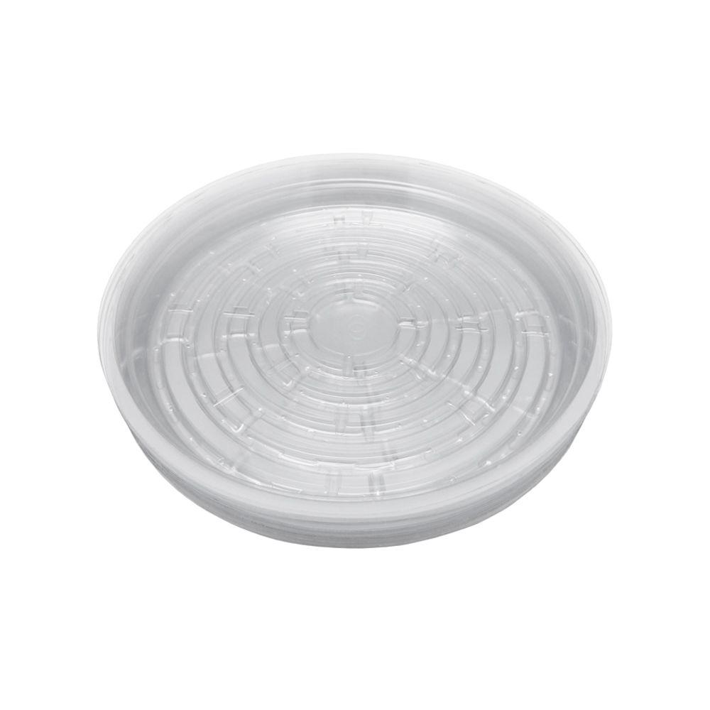10 in. Clear Plastic Saucer (20-Pack)