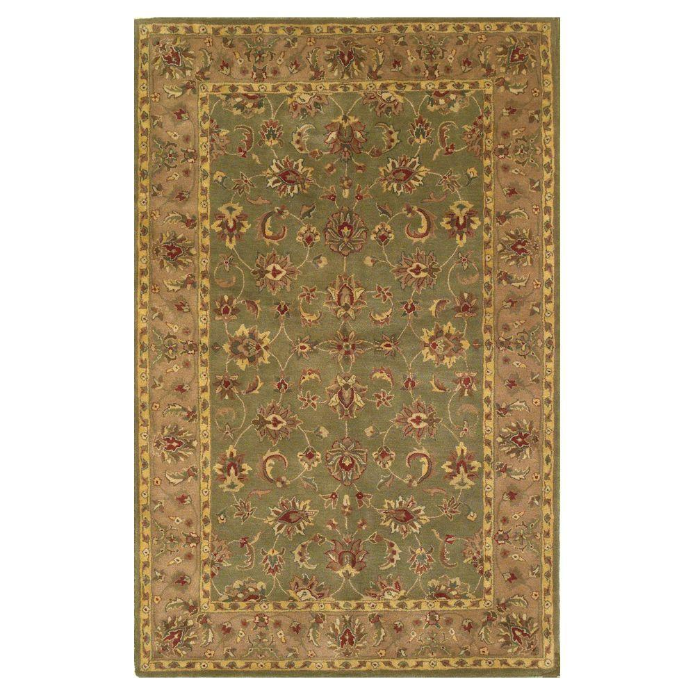 Kas Rugs Noble Craft Sage/Beige 5 ft. x 8 ft. Area Rug-DISCONTINUED