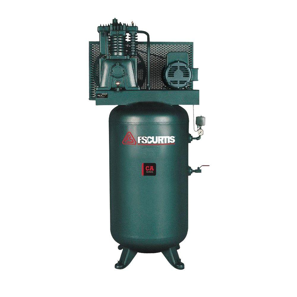 80 Gal.7.5 HP 230-Volt 3-Phase Electric Air Compressor