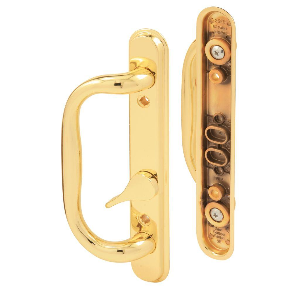 Brass Plated Sliding Door Handle Set