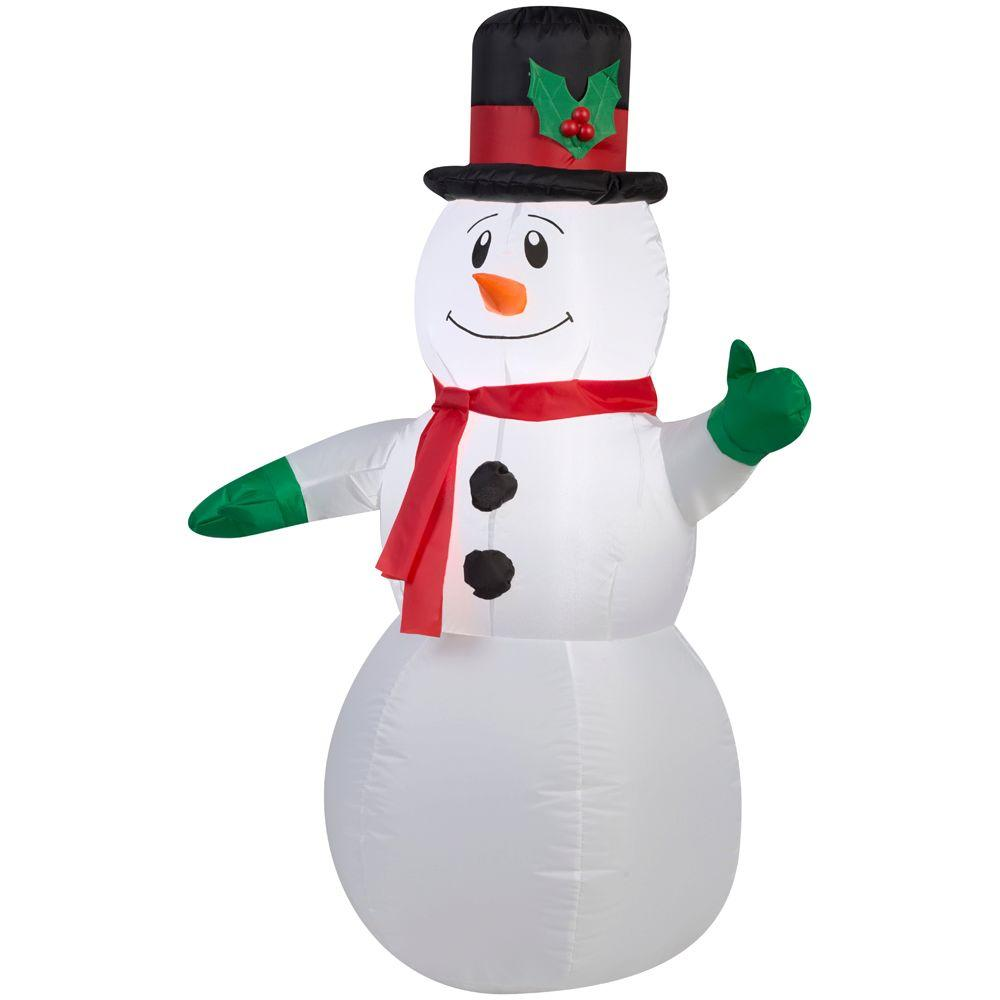 Snowman christmas inflatables outdoor christmas decorations lighted inflatable outdoor snowman mozeypictures Choice Image