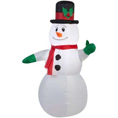 42 in. Lighted Inflatable Outdoor Snowman