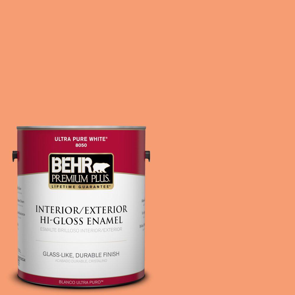 BEHR Premium Plus 1-gal. #P200-5 Burning Coals Hi-Gloss Enamel Interior/Exterior Paint