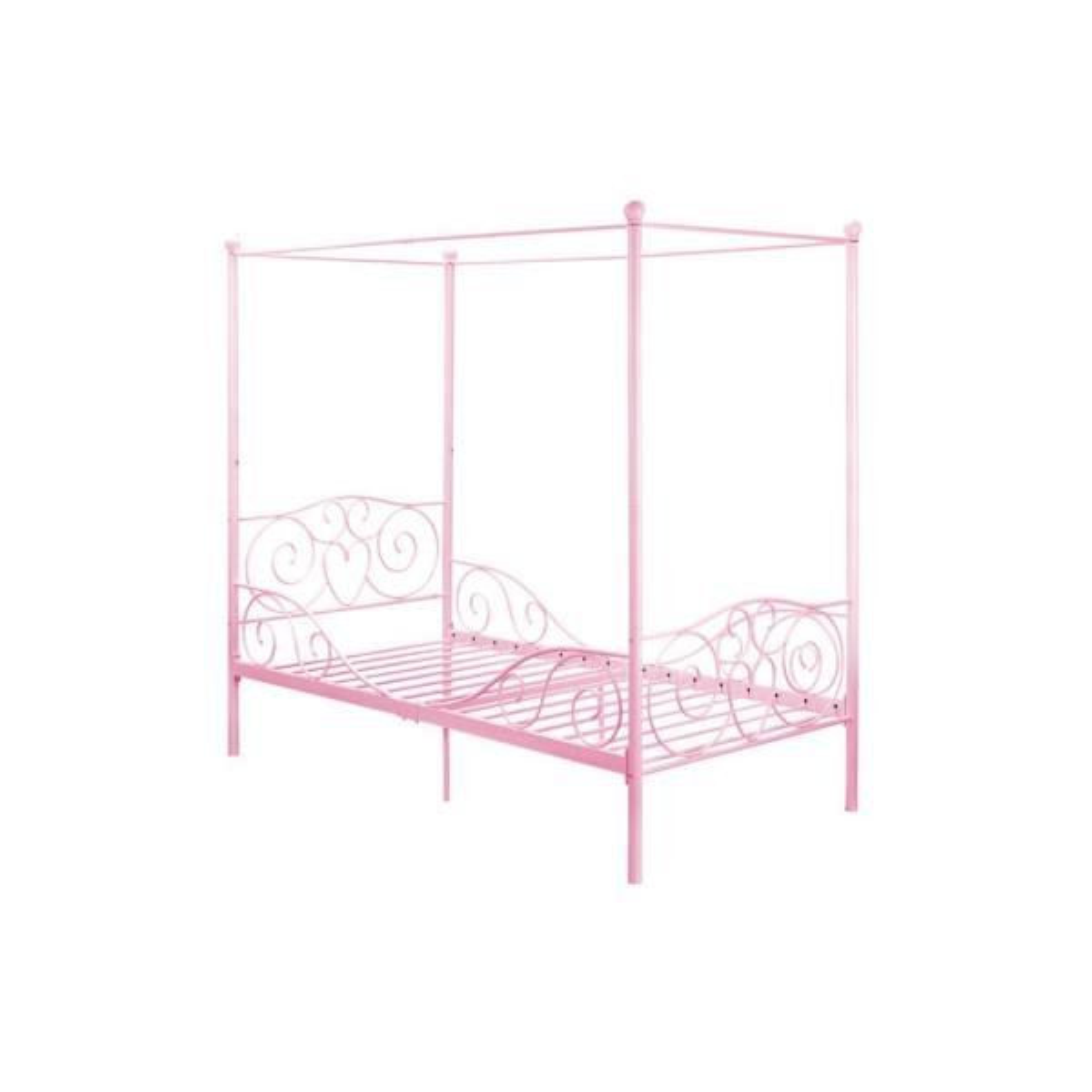 DHP Capri Pink Twin Size Metal Bed Frame DE65171