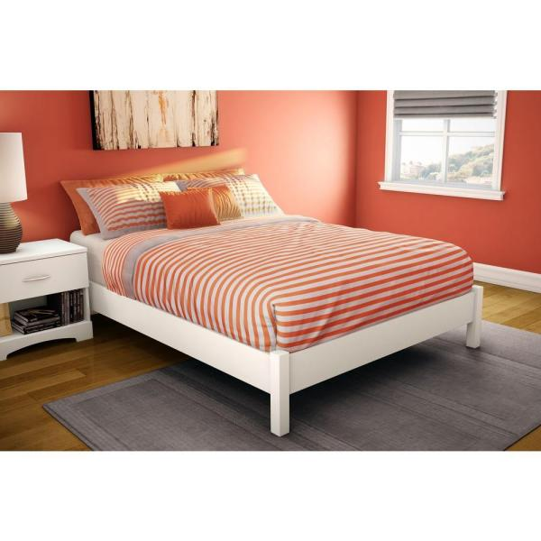 Step One Full Size Platform Bed In Pure White