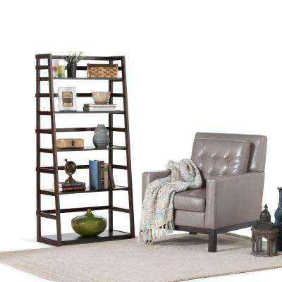 Acadian Dark Tobacco Brown Ladder Bookcase