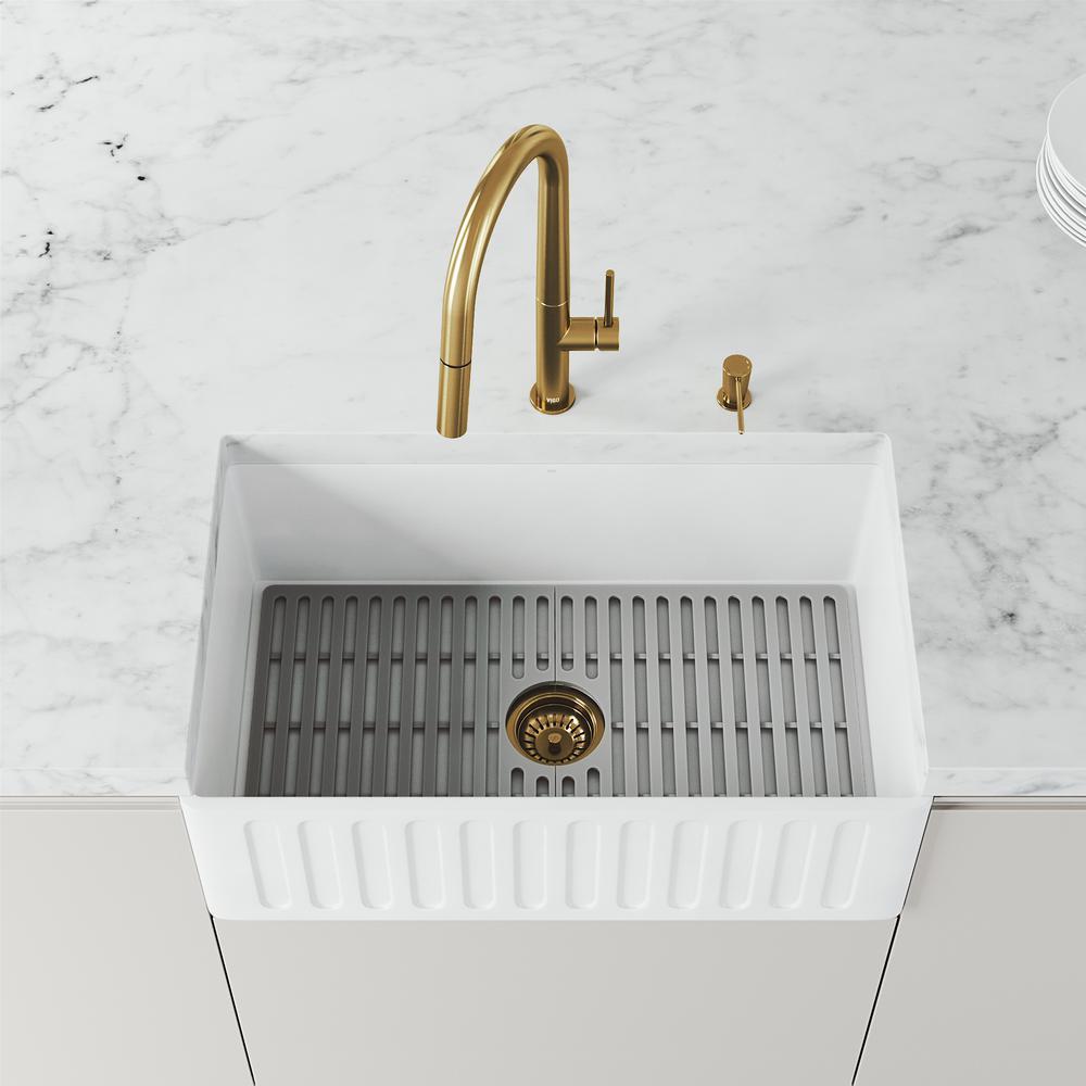 Vigo Kitchen Sink Strainer In Matte Gold Vgstrainermg The Home Depot