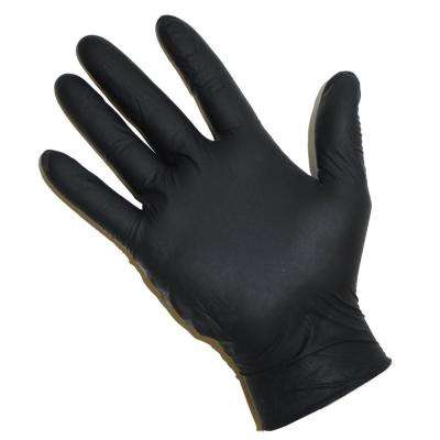 Powder Free Black Nitrile Disposable Gloves, Large - 100 Ct. Box, sold by the case