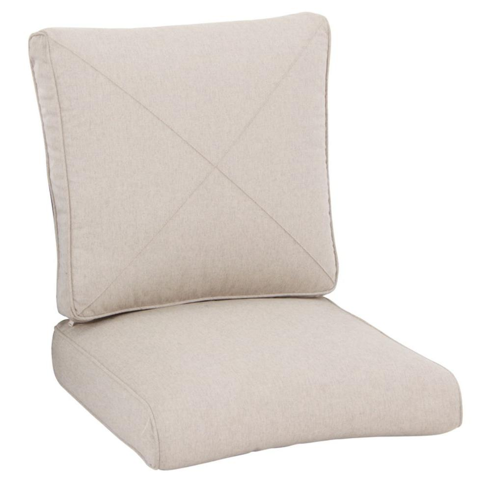 Hampton Bay Barnsley Replacement Outdoor Lounge Chair Cushion (2-Pack)