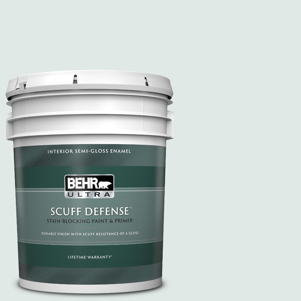 Behr Ultra 5 Gal Ppu13 17 Fresh Day Extra Durable Semi Gloss Enamel Interior Paint Primer 375005 The Home Depot