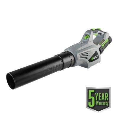 92 MPH 480 CFM 3-Speed Turbo 56-Volt Lithium-ion Cordless Handheld Leaf Blower with 2.5Ah Battery and Charger Included
