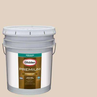 5-gal. #HDGWN02U Safari Bisque Beige Semi-Gloss Latex Exterior Paint