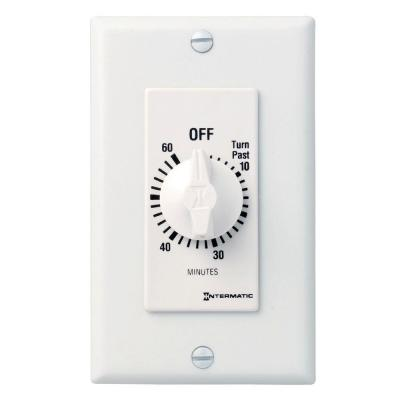 20 Amp 60-Minute Indoor In-Wall Spring Wound Countdown Timer, White