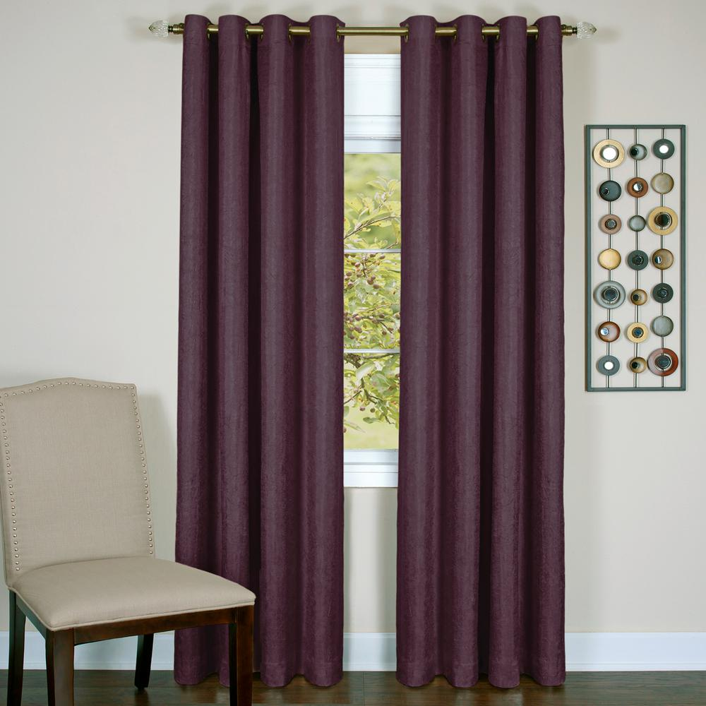 Achim Taylor Aubergine Polyester Lined Grommet Panel - 50 in. W x 63 in. L