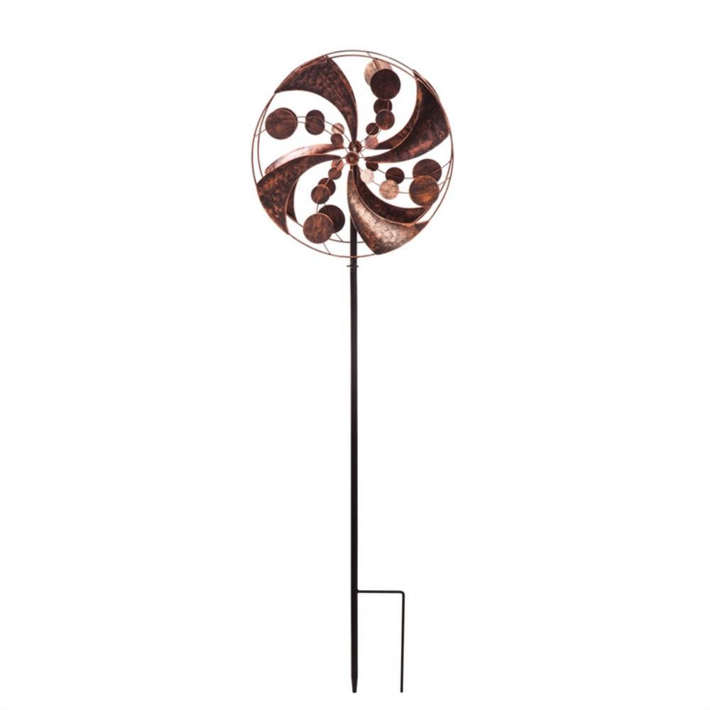 Copper Ribbons Kinetic Wind Spinner Topper