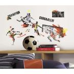 2.5 in. x 18 in. Men's Soccer Champion Peel and Stick Wall Decals