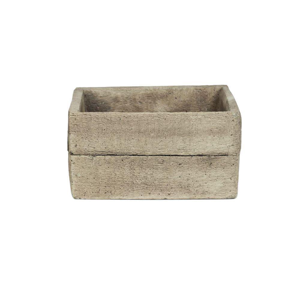 7 in. Low Square Concrete Planter