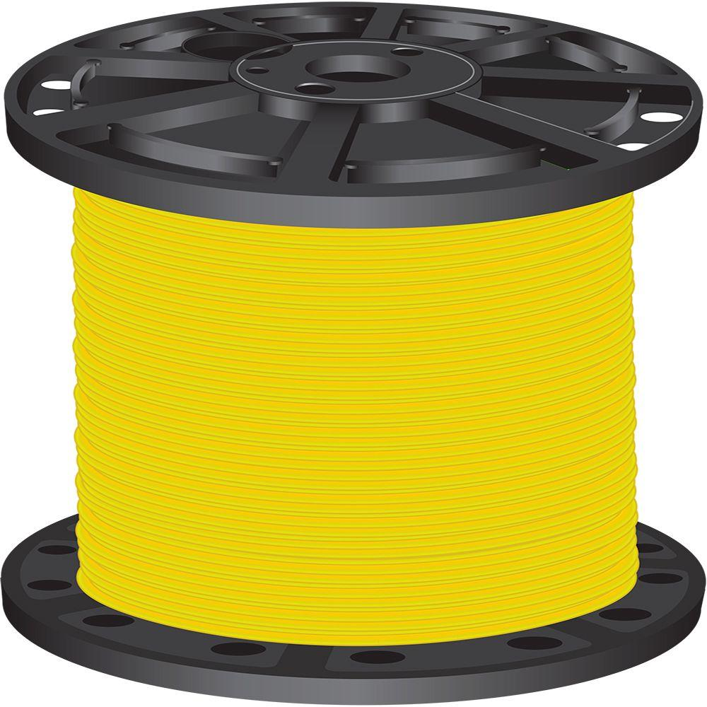 1,000 ft. 4 Yellow Stranded CU SIMpull THHN Wire