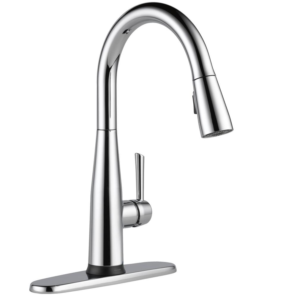 Essa Touch2O Technology Single-Handle Pull-Down Sprayer Kitchen Faucet with MagnaTite Docking in Chrome