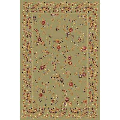 Yazd Green 2 ft. x 4 ft. Indoor Area Rug