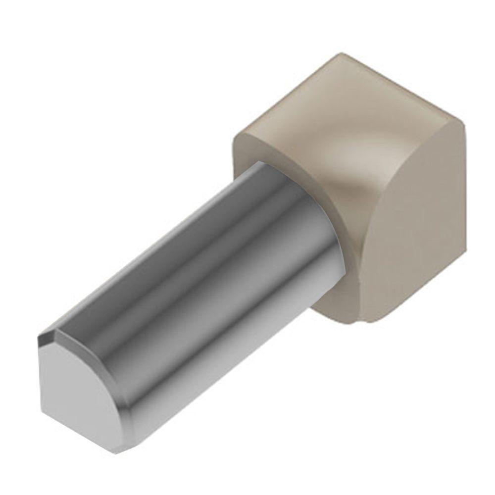 Schluter Rondec Light Beige Color-Coated Aluminum 3/8 in. x 1 in. Metal 90 Degree Inside Corner
