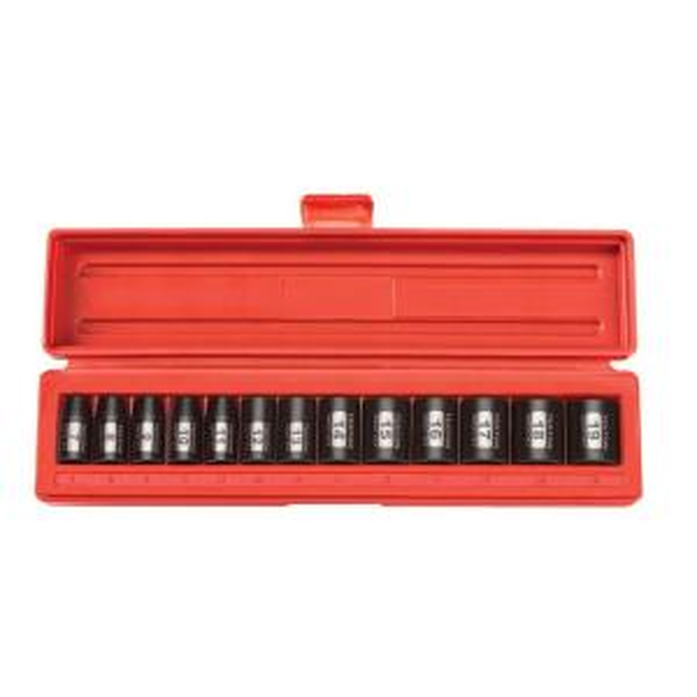 Metric 10-Sockets TEKTON 1206 1//2-Inch Drive Socket Set 24 mm 13 mm Cr-V